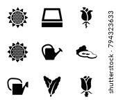 flora icons. set of 9 editable... | Shutterstock .eps vector #794323633
