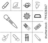 saw icons. set of 13 editable... | Shutterstock .eps vector #794328367