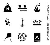 seed icons. set of 9 editable... | Shutterstock .eps vector #794328427