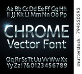 chrome  steel or silver letters ... | Shutterstock .eps vector #794330293