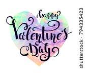 happy valentines day typography ... | Shutterstock .eps vector #794335423
