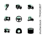 truck icons. vector collection... | Shutterstock .eps vector #794341807