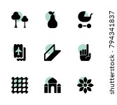 pattern icons. vector... | Shutterstock .eps vector #794341837
