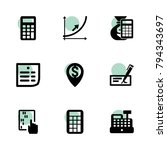 accounting icons. vector...