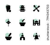 traditional icons. vector...