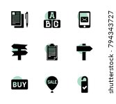 text icons. vector collection...