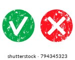 approve and reject symbol stamp ... | Shutterstock .eps vector #794345323