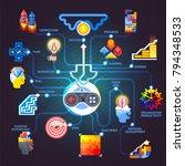 gamification principles... | Shutterstock .eps vector #794348533