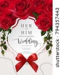 wedding invitation card... | Shutterstock .eps vector #794357443