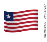 the flag of liberia  national... | Shutterstock .eps vector #794357737