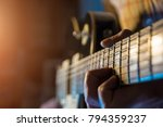 musician man is playing the... | Shutterstock . vector #794359237