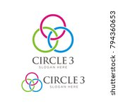 linked  connected three circle... | Shutterstock .eps vector #794360653