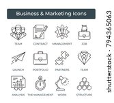 business icons set. icons for... | Shutterstock .eps vector #794365063