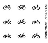 set of black icons isolated on... | Shutterstock .eps vector #794371123