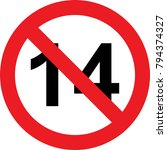 14 years limitation sign on... | Shutterstock . vector #794374327