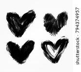 hand written valentine's day... | Shutterstock .eps vector #794374957
