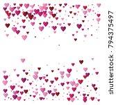 valentines day vector confetti... | Shutterstock .eps vector #794375497