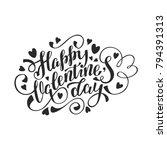 happy valentine's day vector... | Shutterstock .eps vector #794391313