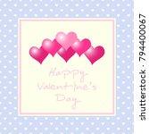 valentines day background.... | Shutterstock .eps vector #794400067