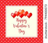 valentines day background.... | Shutterstock .eps vector #794400073