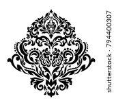 vintage baroque frame scroll... | Shutterstock .eps vector #794400307