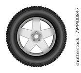 car tire on an alloy wheel.... | Shutterstock .eps vector #794400847