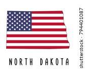 north dakota map isolated on... | Shutterstock .eps vector #794401087