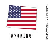 wyoming map isolated on white... | Shutterstock .eps vector #794401093