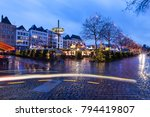 Small photo of Christmas market in Cologne. Cologne, North Rhine-Westphalia, Germany.