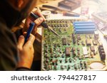diagnostic board replacement... | Shutterstock . vector #794427817