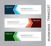 abstract modern banner... | Shutterstock .eps vector #794442157