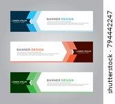 abstract modern banner... | Shutterstock .eps vector #794442247