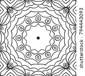 coloring page for adults. a... | Shutterstock .eps vector #794443093