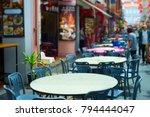 street restaurant in chinatown... | Shutterstock . vector #794444047
