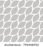 geometric leaves vector... | Shutterstock .eps vector #794448553