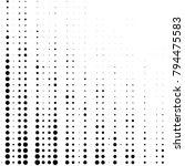 grunge halftone black and white ... | Shutterstock . vector #794475583