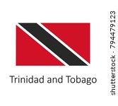 flag of trinidad and tobago... | Shutterstock .eps vector #794479123