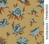 vintage vector pattern with... | Shutterstock .eps vector #794480503