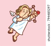 cupid inside frame for... | Shutterstock .eps vector #794485297