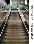 escalator ascending point of...   Shutterstock . vector #794486233