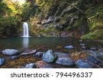 todoroki waterfall in isahaya ... | Shutterstock . vector #794496337