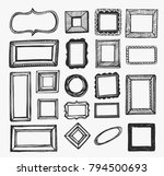 vector set with hand drawn...   Shutterstock .eps vector #794500693