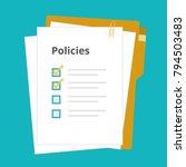 policies regulation concept... | Shutterstock .eps vector #794503483