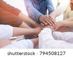 teamwork group of young people... | Shutterstock . vector #794508127