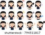 girl's honor student japanese... | Shutterstock .eps vector #794511817