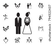 bride and groom icon. set of... | Shutterstock .eps vector #794522437