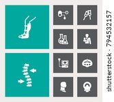 set of 10 medical icons set... | Shutterstock . vector #794532157