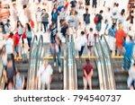 motion escalators at the modern ... | Shutterstock . vector #794540737