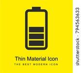 battery status bright yellow...