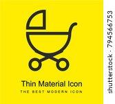baby stroller outline of side... | Shutterstock .eps vector #794566753
